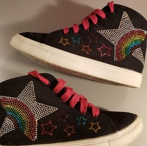 Girls Steve Madden Rainbow Hi-Top Sneakers